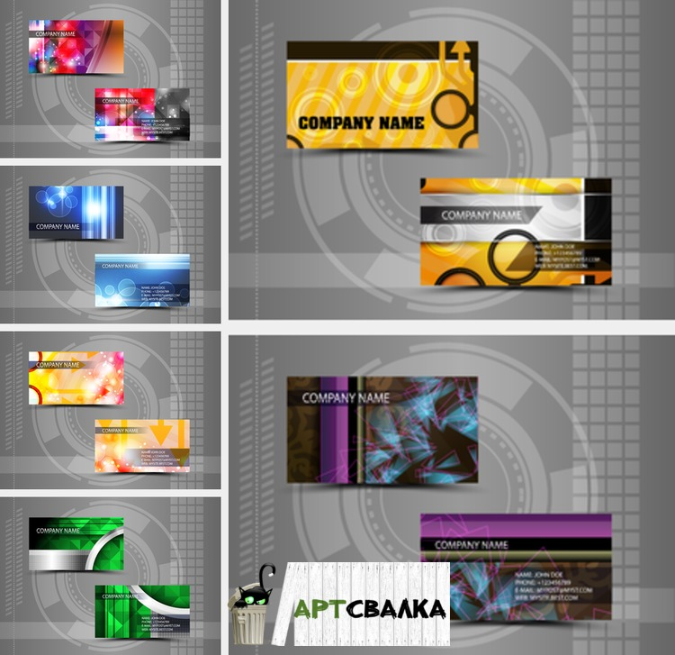 Макеты деловых визиток. Часть 3 | Layouts business cards. Part 3